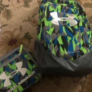 Under armor backpack and matching lunchbox